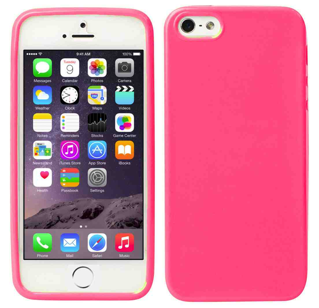 SDTEK - Hot Pink iPhone 6 Case Soft Thin Gel TPU Silicone Cover